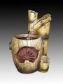 Бамбук с мельницей в бочке