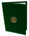 Папка адресная с гербом РТ (зел)
