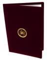 Папка адресная с гербом РТ (бордо)